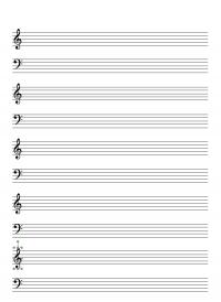 楽譜・五線譜のテンプレート書式・Word