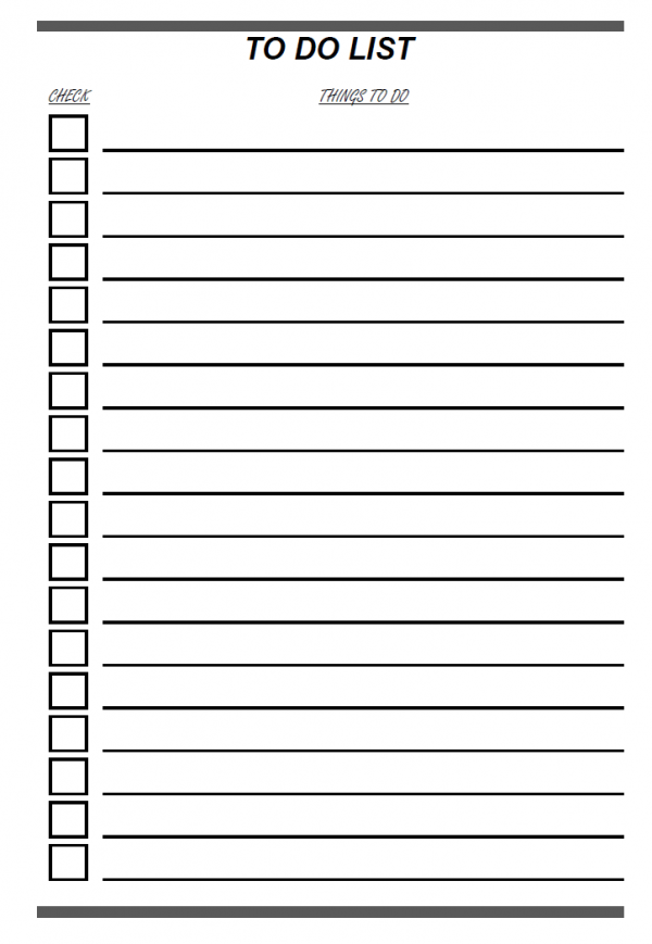 TO DOリストのテンプレート書式03・Excel