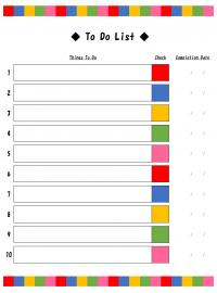 TO DOリストのテンプレート書式05・Excel