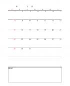 エクセルカレンダーのテンプレート書式・Excel