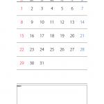 エクセルカレンダーのテンプレート書式02・Excel