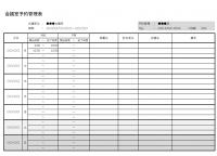 会議室予約管理表(週間)のテンプレート書式・Excel