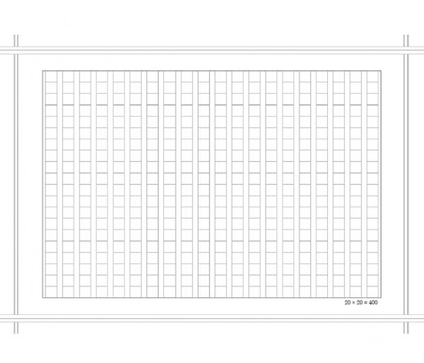 原稿用紙A4縦書き・20×20_400字のテンプレート書式・Word