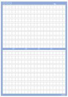 原稿用紙(背景)A4横書き・20×20_400字のテンプレート書式02