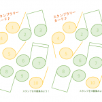 音符のスタンプラリー台紙(B5・2面)のテンプレート書式・PowerPoint