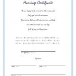 教会式の結婚証明書のテンプレート書式02・Word