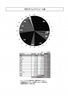 1日のスケジュール表のテンプレート書式04・Excel
