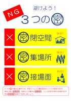 3密・感染症対策のポスターのテンプレート書式02・Word