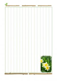 小鳥と花の縦書き便箋のテンプレート書式・Word