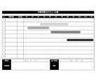白黒の年間スケジュール表のテンプレート書式02・Excel