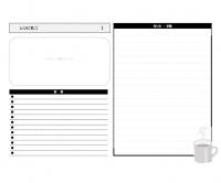 白黒のレシピカードのテンプレート書式・Word
