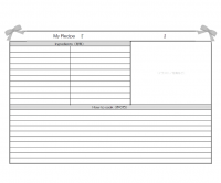 白黒のレシピカードのテンプレート書式02・Word
