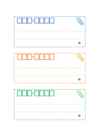 カラーの宛名ラベル(A4縦・3枚)のテンプレート書式・Wor