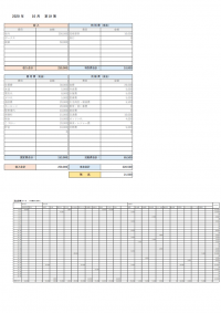 一ヵ月の家計簿のテンプレート書式・Excel