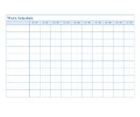 シンプルな1日のタイムスケジュール表のテンプレート書式02・Word